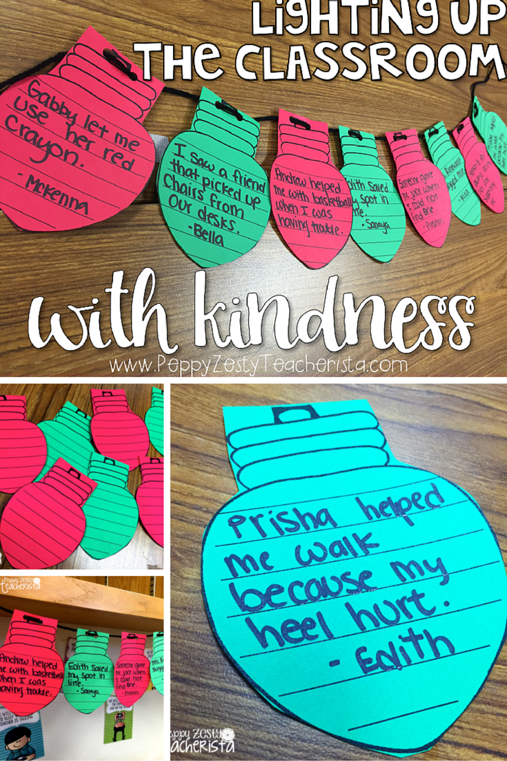 Kindness crafts for preschoolers - Christmas Holiday In The Classroom Celebrate Kindness By Having Kids Write Acts They Have Seen