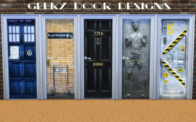 TS4 Designed Doors Sims 4 mods, Sims 4 custom content