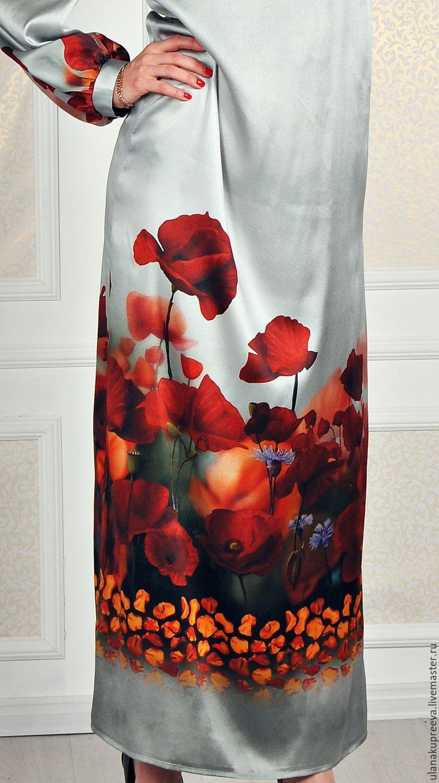 99efac0781d5849 Купить Скидка - 50% Платье из натурального шелка (Италия) - платье, прямое  платье, шелковое платье