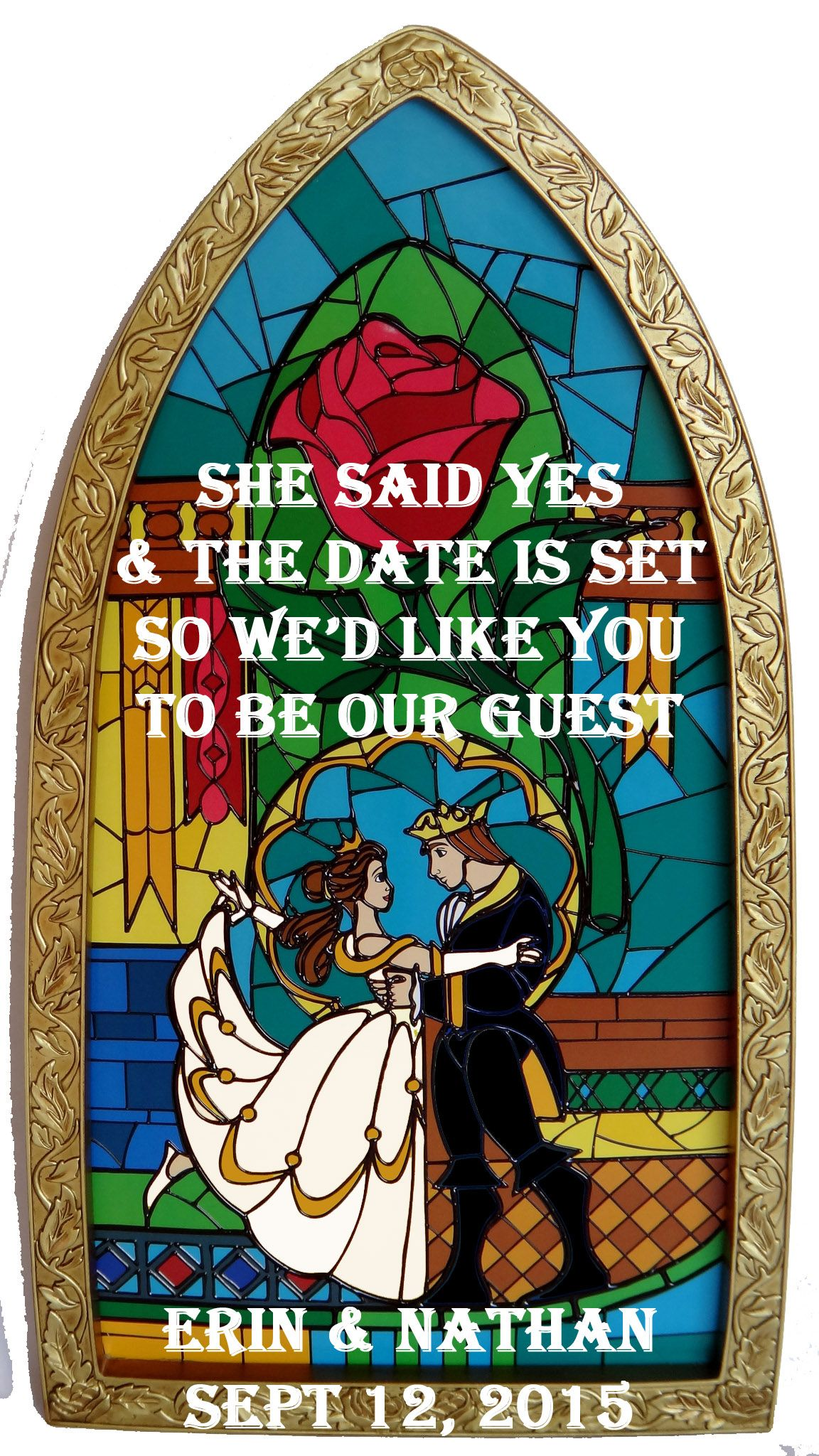 Beauty and the Beast Save the Dates!  Weddingbee is part of Disney wedding theme -