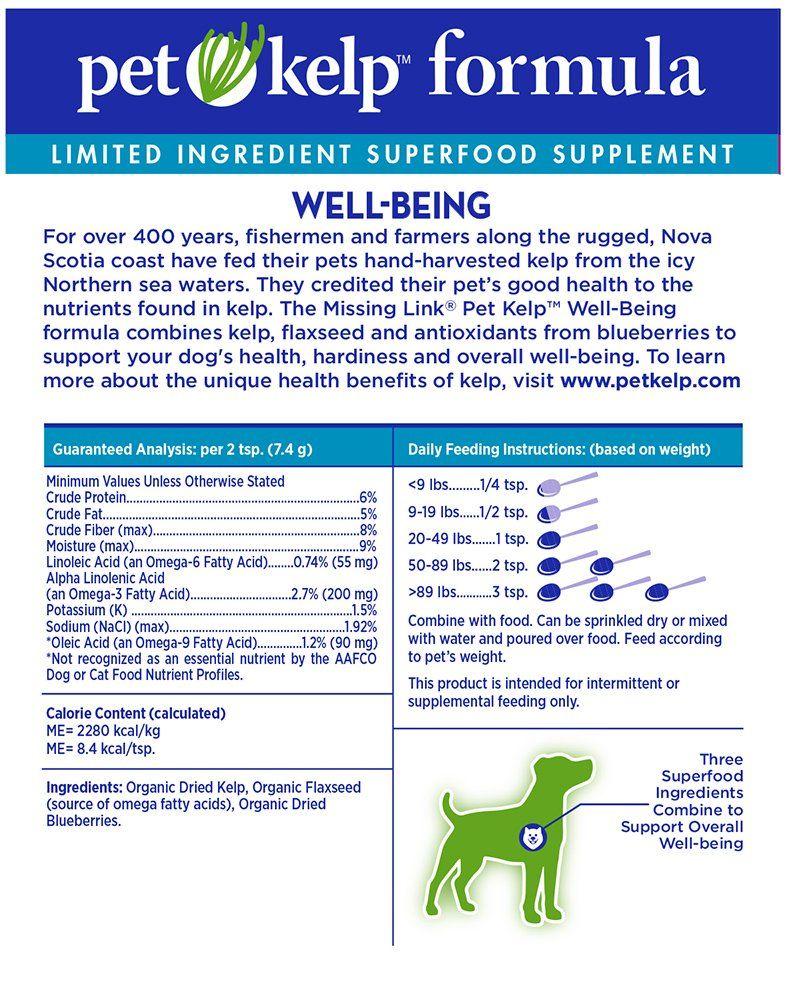 The Missing Link Pet Kelp Formula Ad Link Ad Missing Pet Formula Superfood Supplements Organic Pet Products Pets