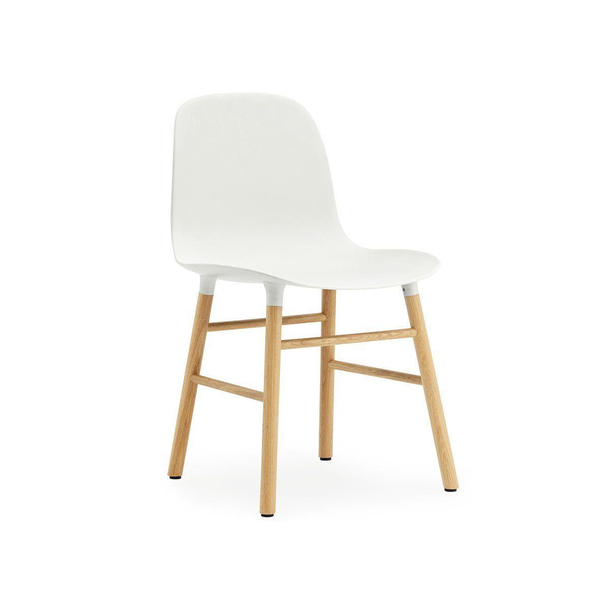 Normann Copenhagen Stuhl Form, weiß / eiche: Amazon.de: Küche ...