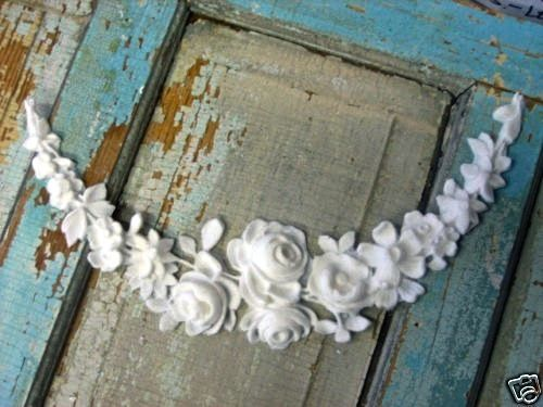 Shabby & chic rose french swag ~ furniture applique onlays do it