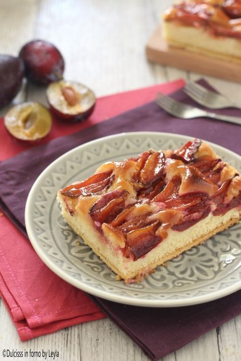 Crostata morbida di prugne Zwetschgendatschi | ricetta dolce | #crostatamorbida