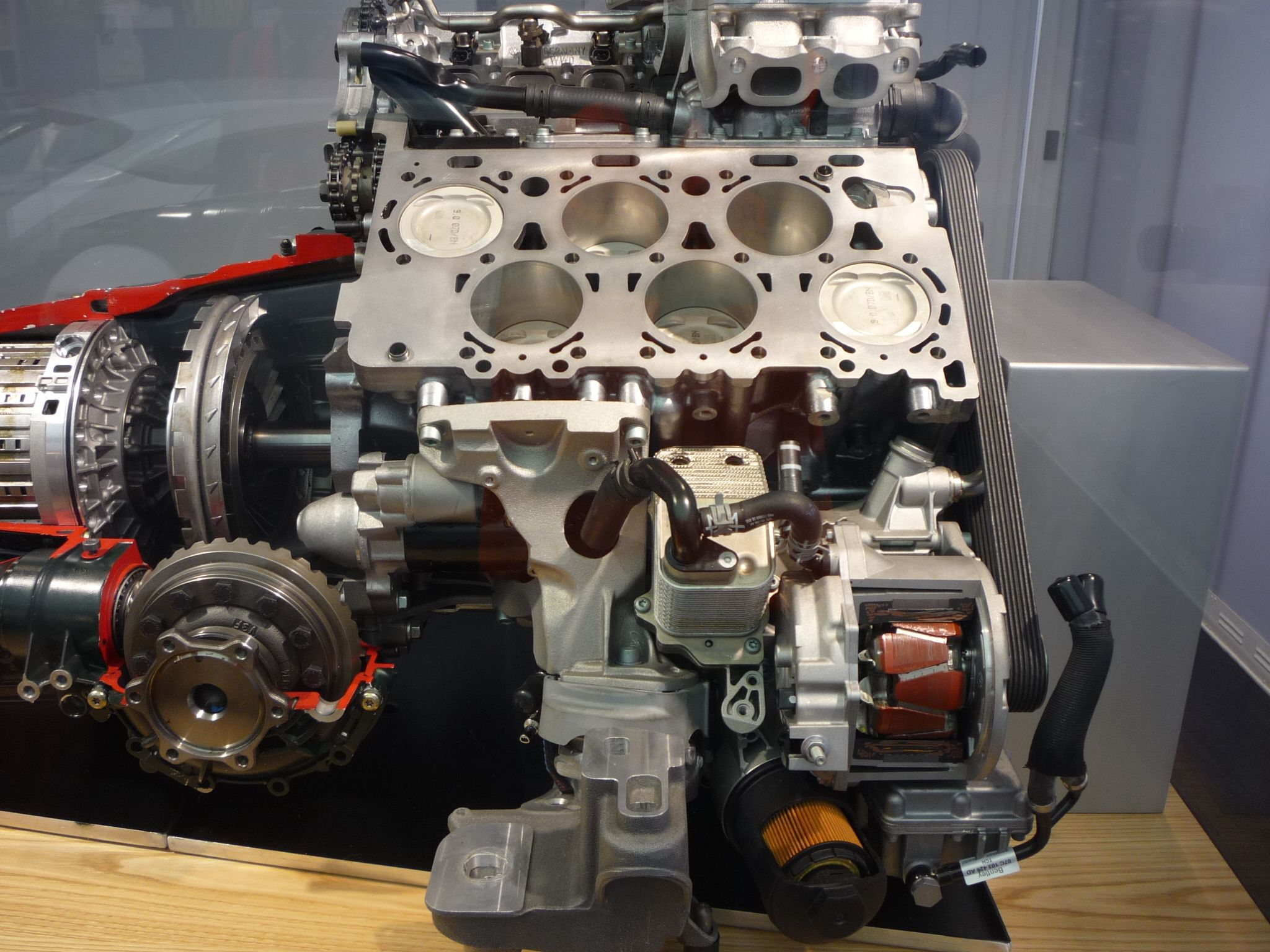 Bentley W12 engine cutaway. Cars Pinterest