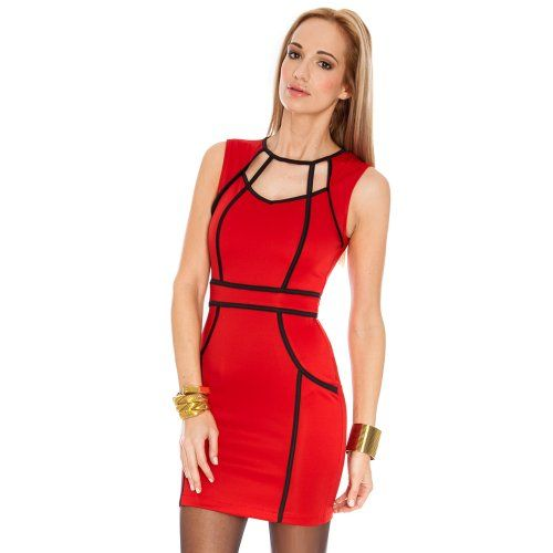 Bestchoice2go(TM) Women's Sexy Slim Party Dress (Medium, Red) Bestchoice2go To see or buy click on Amazon here http://www.amazon.com/dp/B00J3MG0NW/ref=cm_sw_r_pi_dp_uIoJtb1TA3BEMAZM