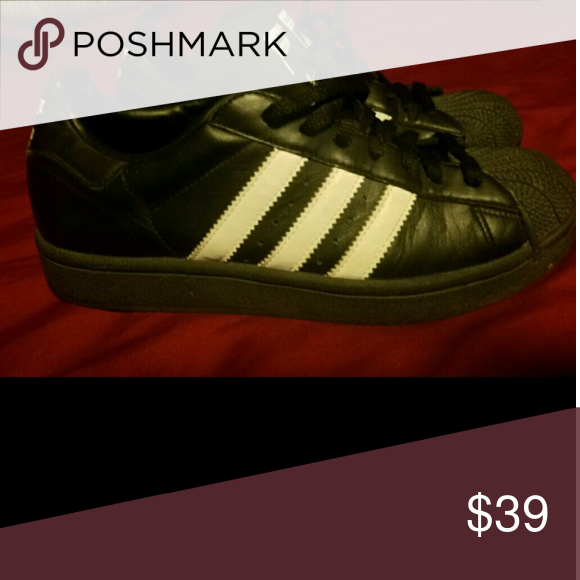 413f8885d93b Adidas Black White Men s Sneakers 6.5 Mens Size 6.5 Black   White Leather  Adidas. Gently used