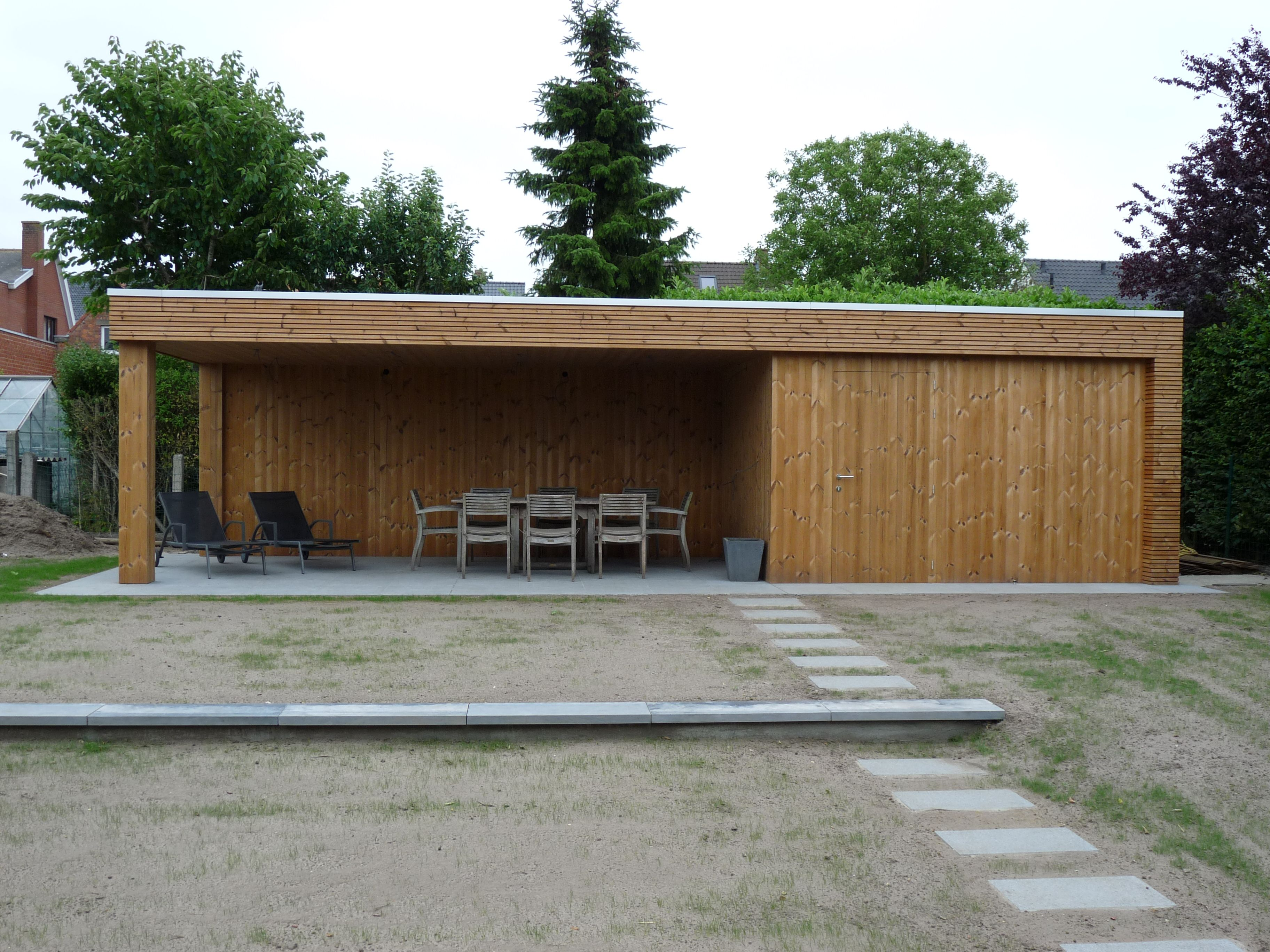Poolhouse Modern Thermowood Exclusieve Gebouwen