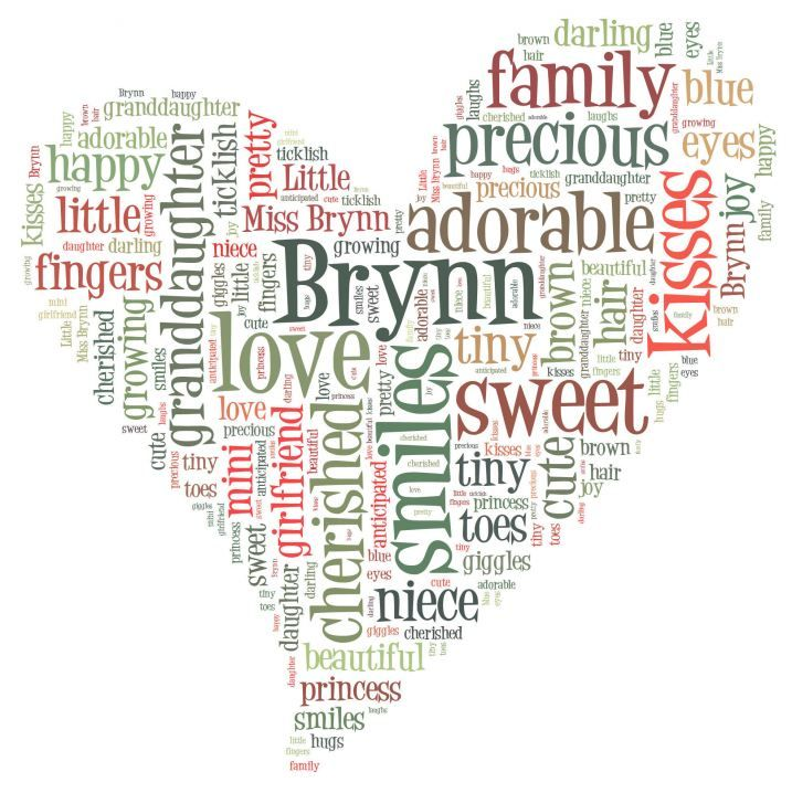 Make Your Own Word Art Made My Daughters Name In A Heart Shape Now