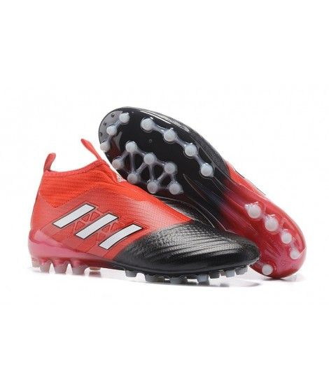 new styles 83202 534aa Adidas ACE 17 PureControl AG CÉSPED ARTIFICIAL botas de fútbol rojo negro  blanco