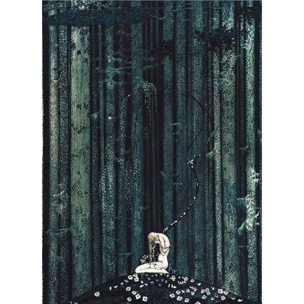 Kay Nielsen's Stunning 1914 Scandinavian Fairy Tale Illustrations ❤ liked on Polyvore featuring backgrounds and fantasy background
