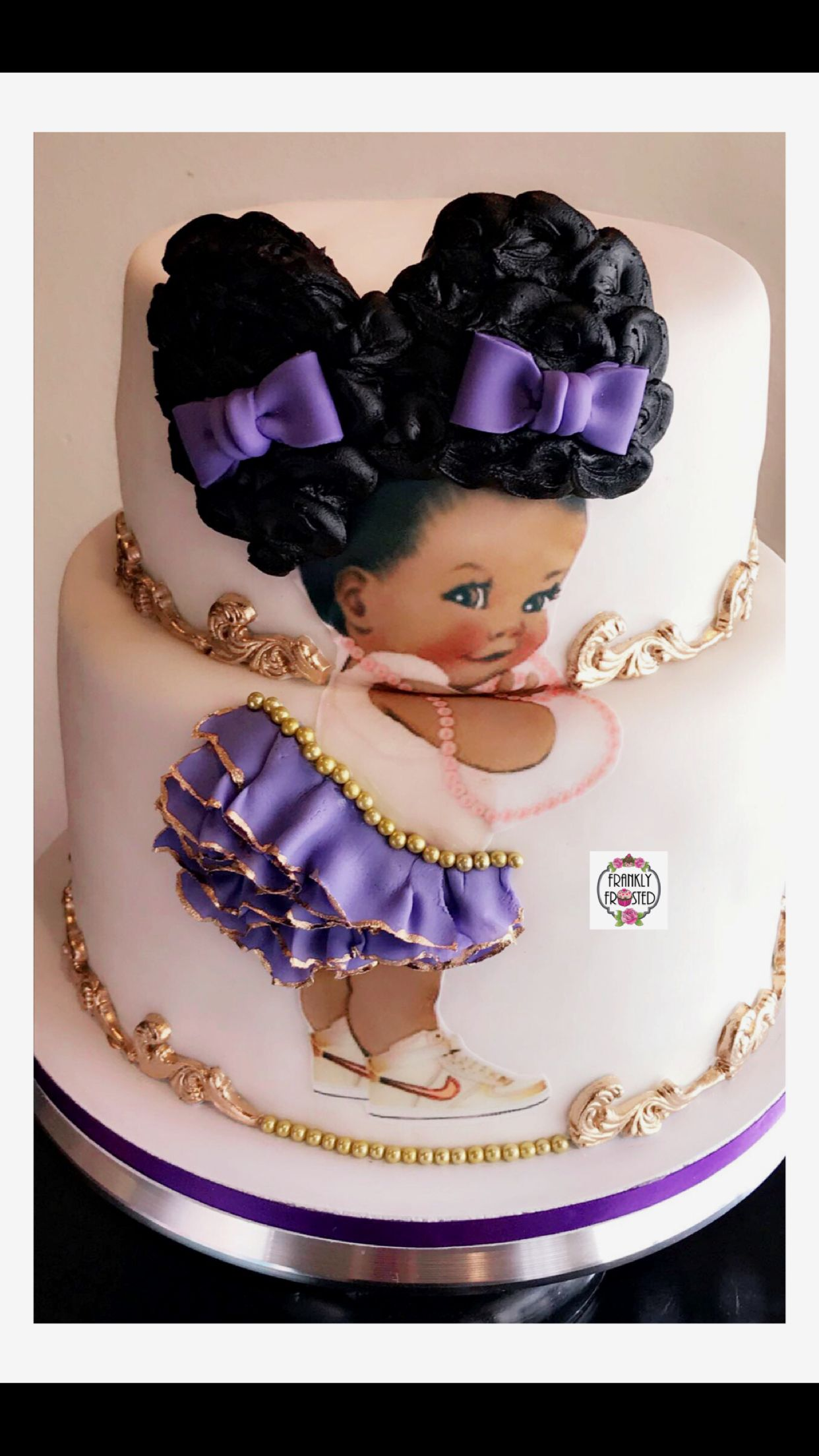 Afro Puff Baby Cake  Frankly Frosted  Cake Cupcake