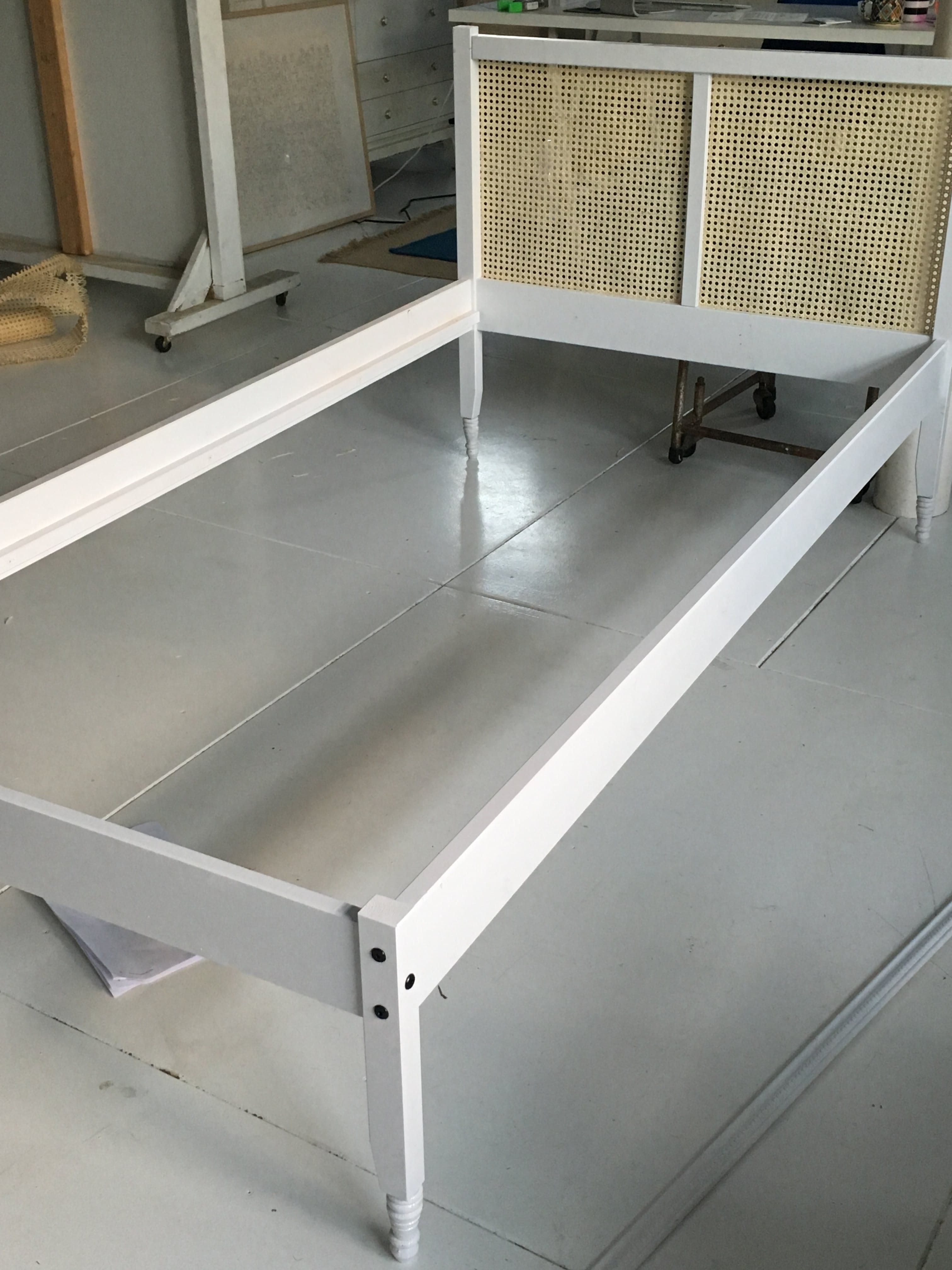 How To Seriously Upgrade A Basic 40 Ikea Fjellse Twin To A Beautiful Cane Bed Cane Bed Ikea Fjellse Ikea Bed Frames