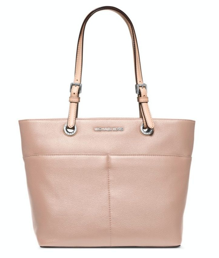 9923be560261b ... New Michael Kors Bedford TZ Pocket Tote Ballet Pink Leather ...