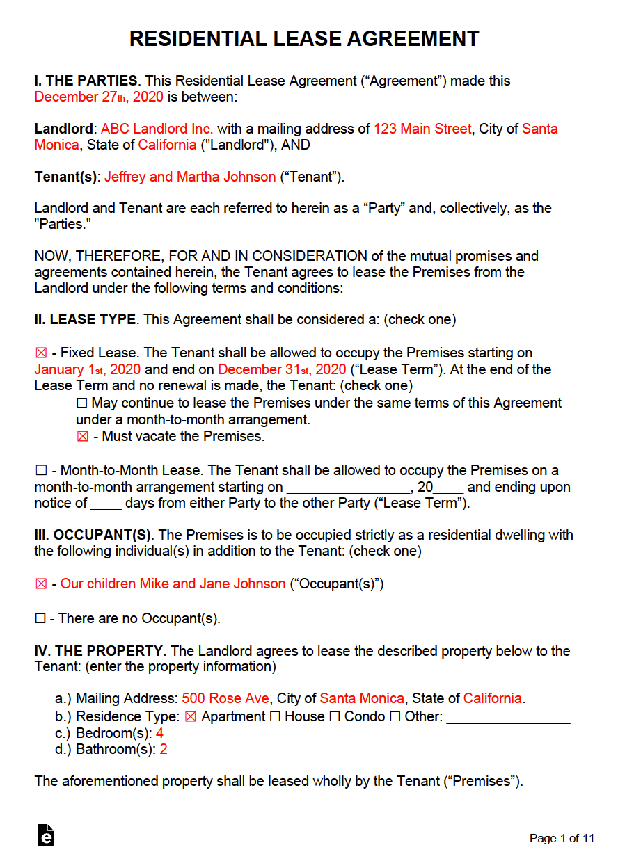 Free Rental Lease Agreement Templates Residential Commercial Pdf Word Eform In 2020 Lease Agreement Free Printable Lease Agreement Rental Agreement Templates