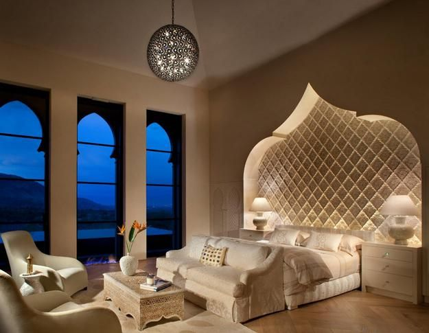 Love The Rooms Built In Appeal Arabic Style Wall And Windows With Amazing View Very Calm Relaxing Color Scheme Lighting