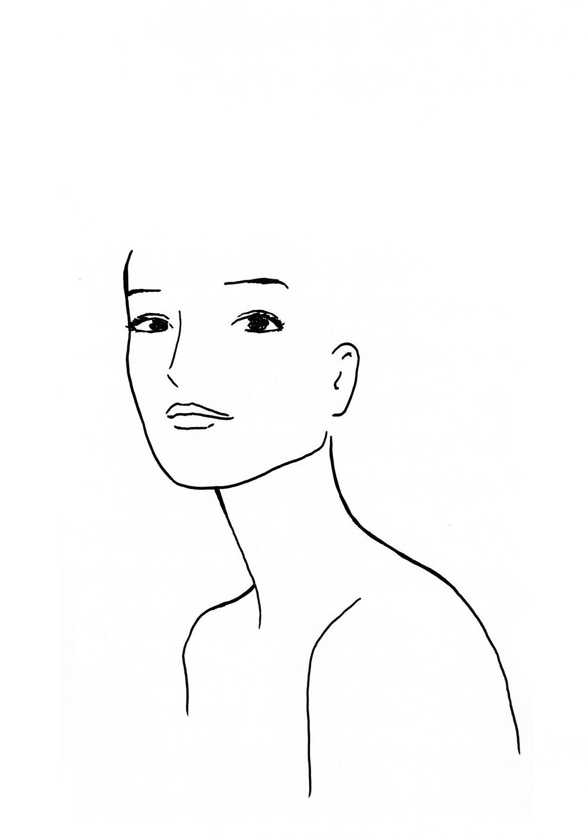 Gabarit pour études coiffure / template face Face