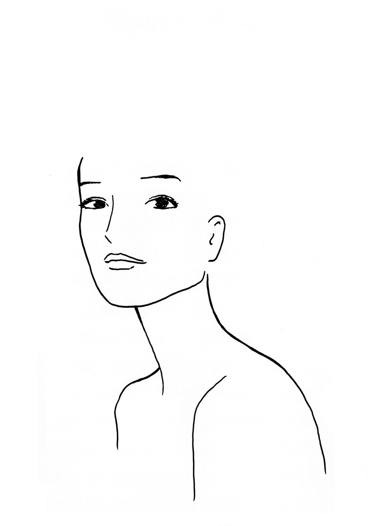 gabarit pour  u00e9tudes coiffure    template face