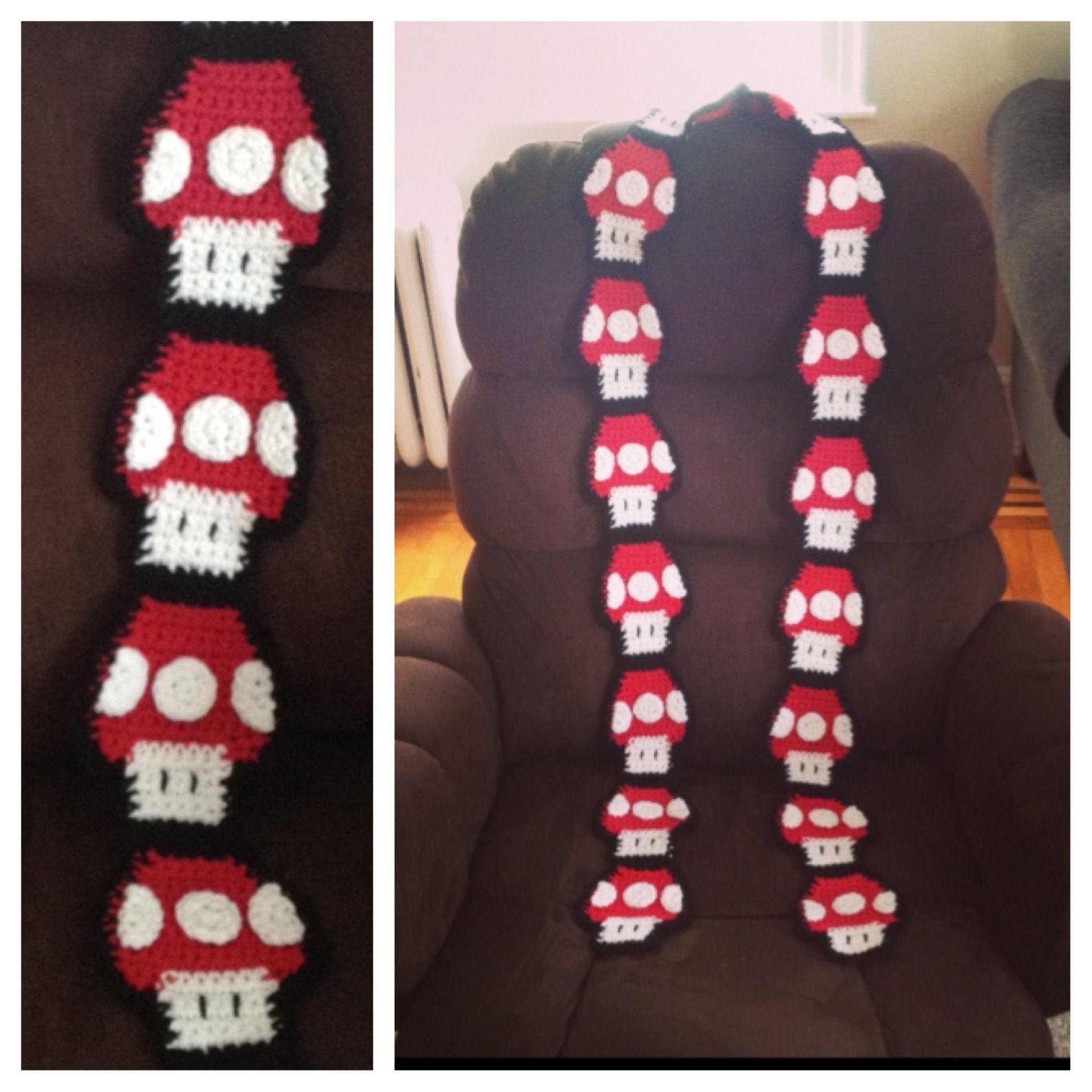 Super Mario Mushroom Scarf (Crochet) http://graceavery.com/mushroom ...