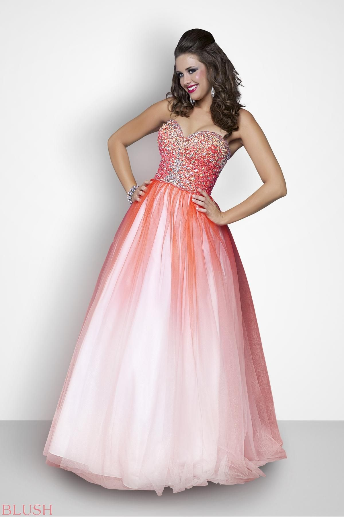 Pink by Blush Prom Plus Style 111W #IPAProm   Blush Prom Dresses ...