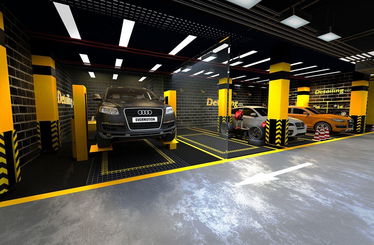 Car care center design 2019 on behance garage design