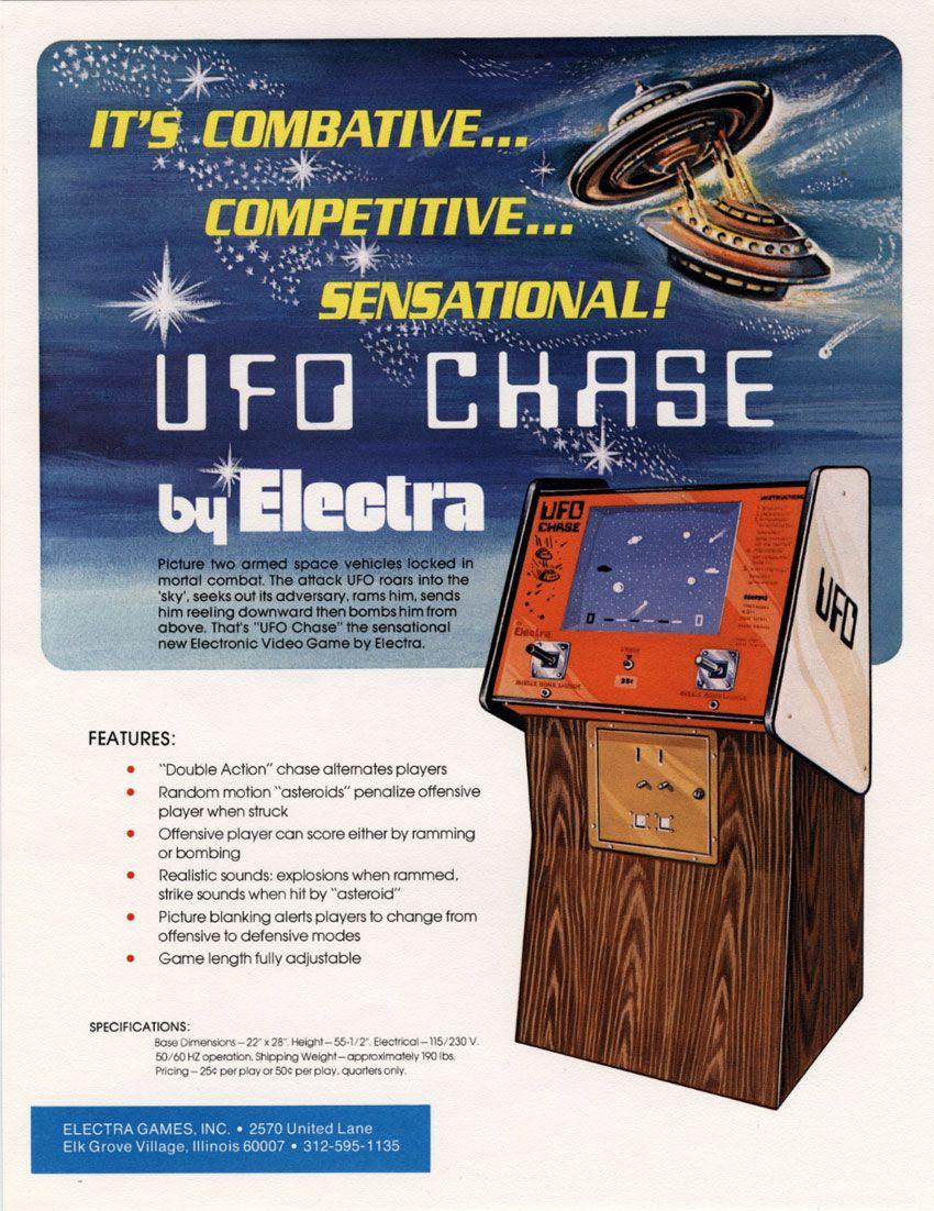 Electra UFO Chase 1975   The Vintage Arcade   Retro video
