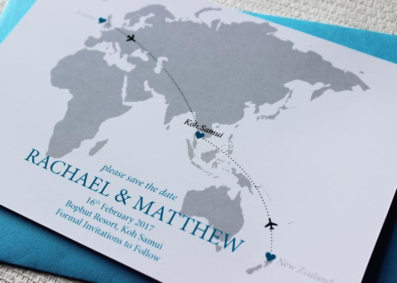 Destination Wedding Invitation New Zealand Save The Date