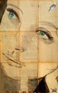 portrait, old book background