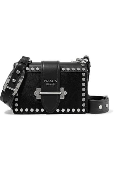 Black calf hair and leather (Calf) Tab-fastening front flap Comes with dust  bag Weighs approximately 2.2lbs  1kg Made in Italy ec305fc690e