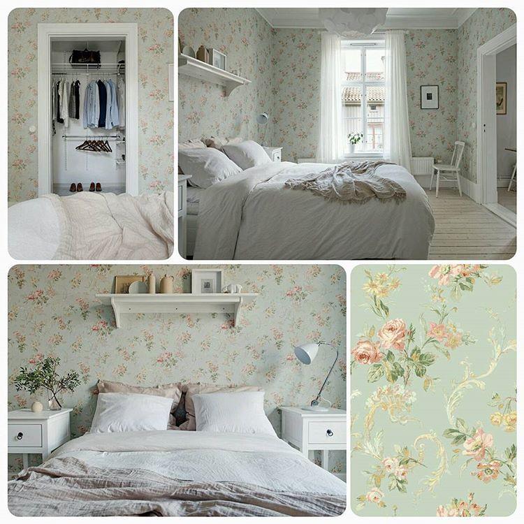 tapet sovrum romantisk