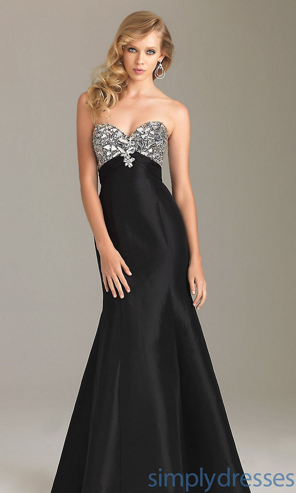 Night moves long prom dresses beaded prom gowns simply dresses