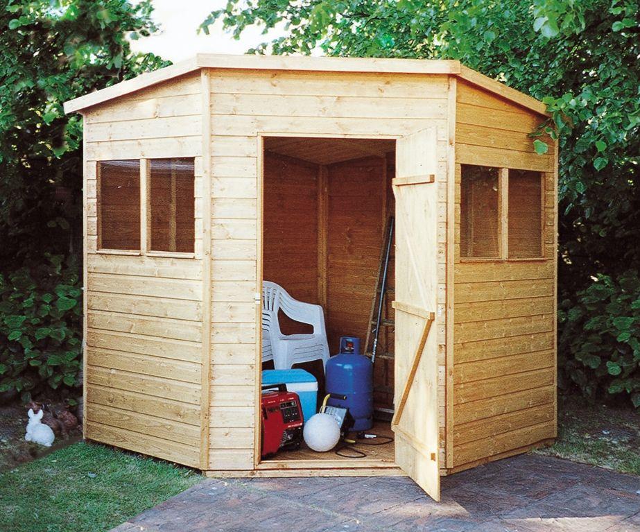 corner shed 7x7 shiplap 2 - Corner Garden Sheds 7x7
