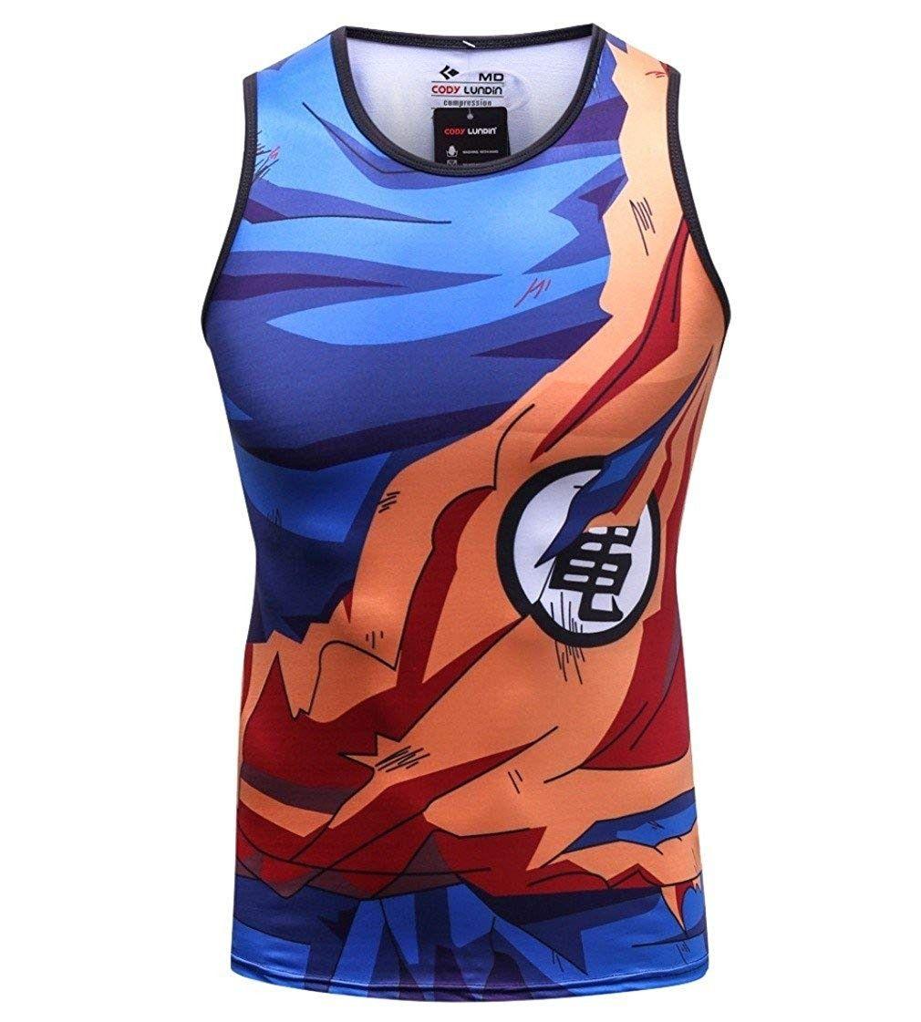 Mens 3d compression shirt skin tight anime printing vest