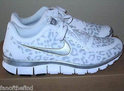 193da3431bf4 Women s NIKE FREE 5.0 V4 Snow Leopard Cheetah Animal Shoes 8 8.5 9 9.5 NIB