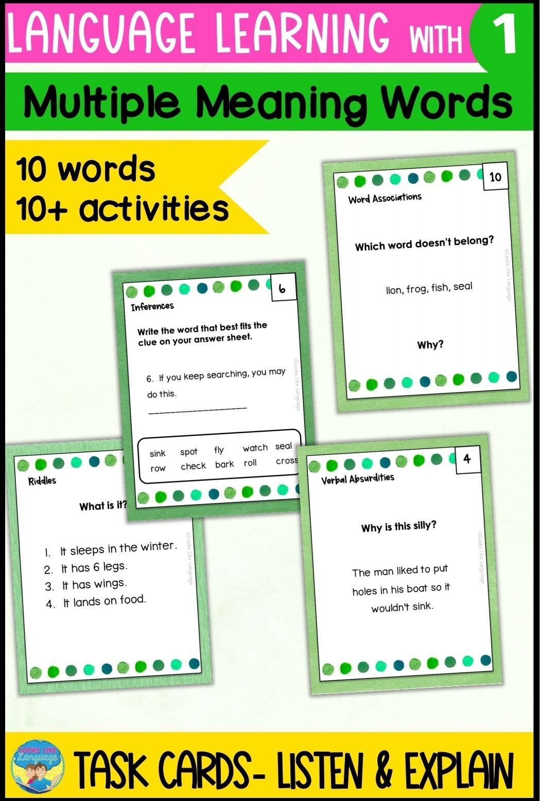 Homonyms Activities 1