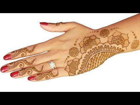 Simple Full Hand Henna/Mehendi Design For Diwali - YouTube
