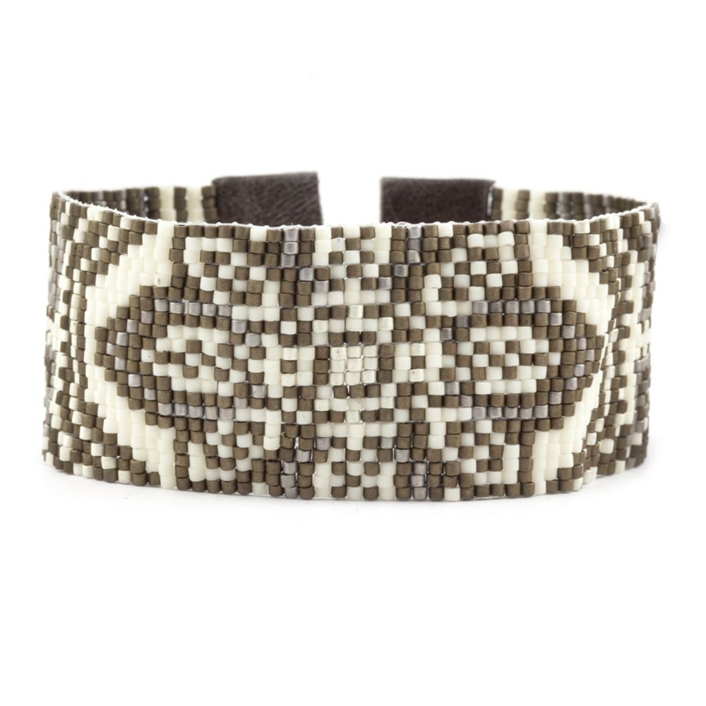 Chan Luu - Cream Mix Patterned Cuff Bracelet, $240.00 (http://www.chanluu.com/mens-bracelets/cream-mix-patterned-cuff-bracelet/)