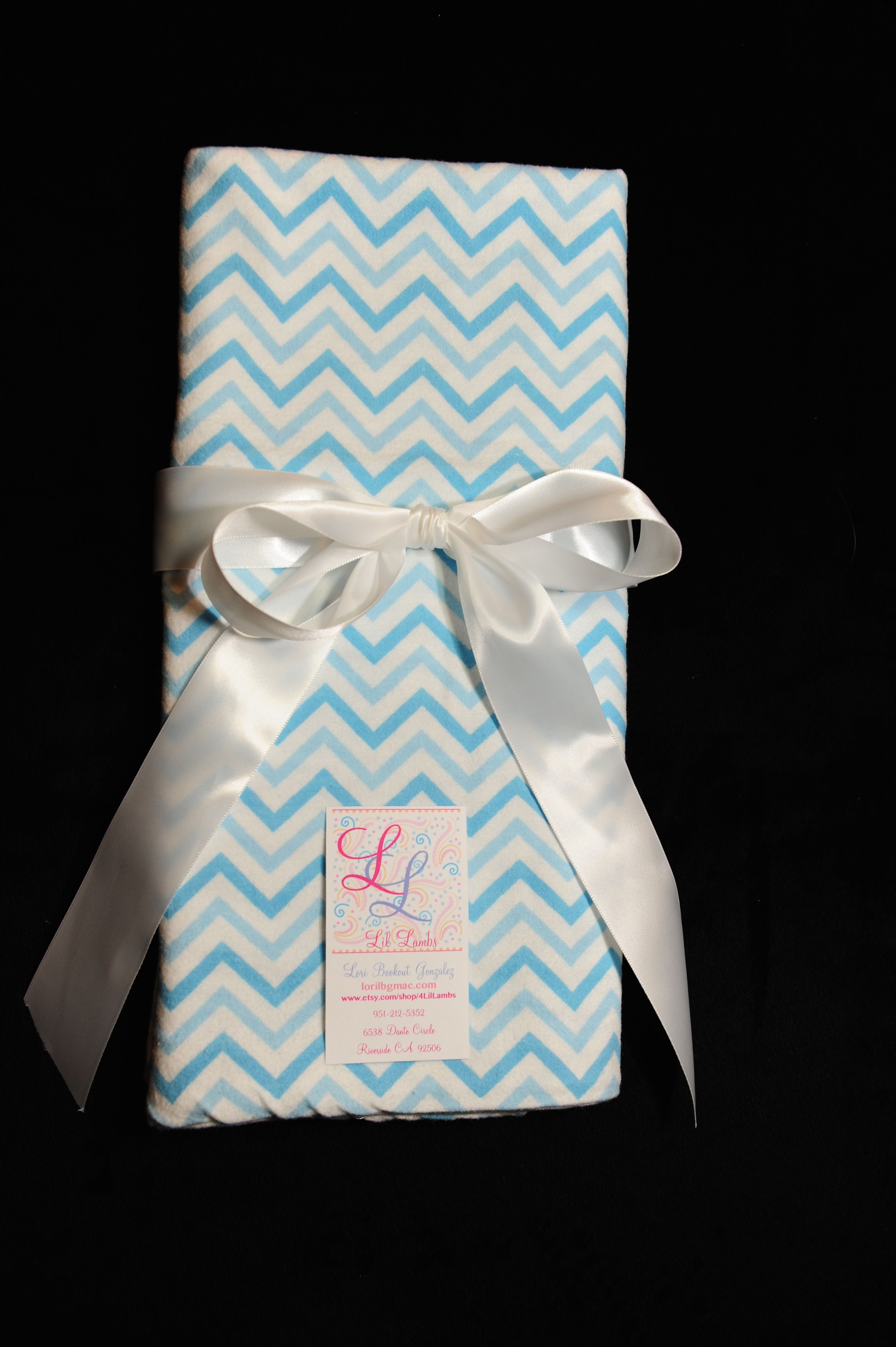 Blue Chevron Flannel