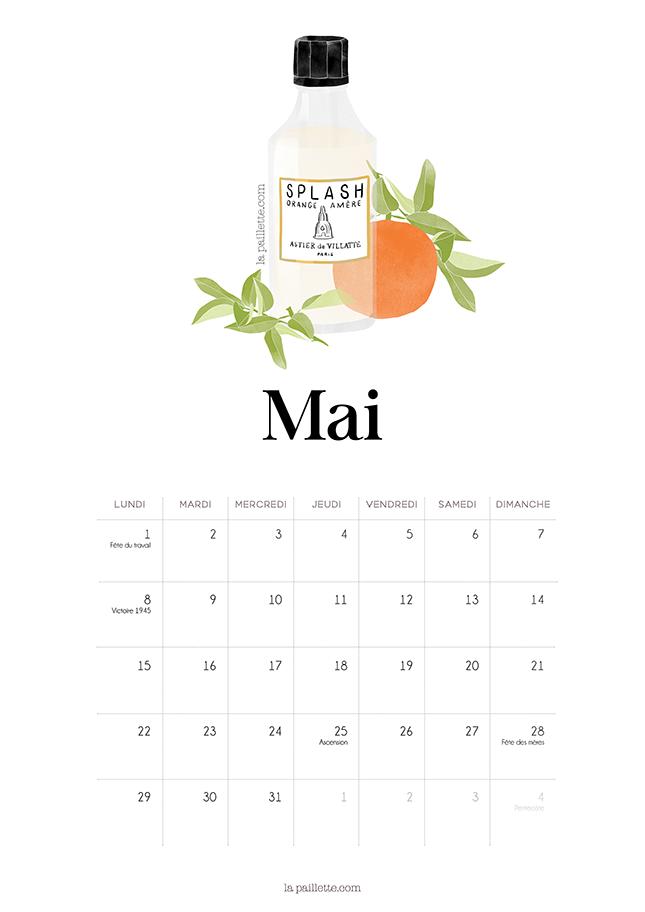 Calendar Mai : Calendrier mai may calendar parfum fragrance astier