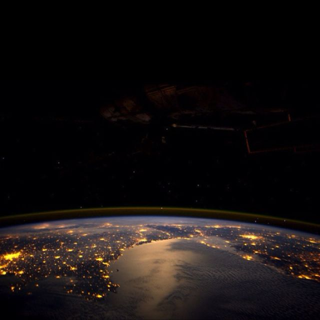 European Lights Seen By André Kuipers From Space. Portugal