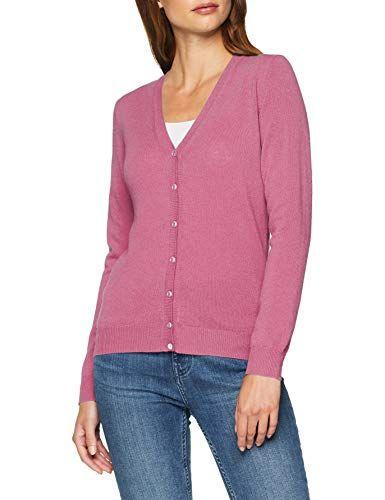 588e4b9be51 United Colors of Benetton L s Cardigan Chaqueta Punto para Mujer Rosa (Dark  Pink
