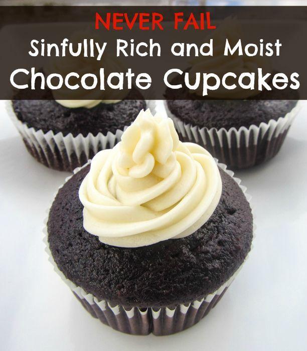 rich moist chocolate cupcakes