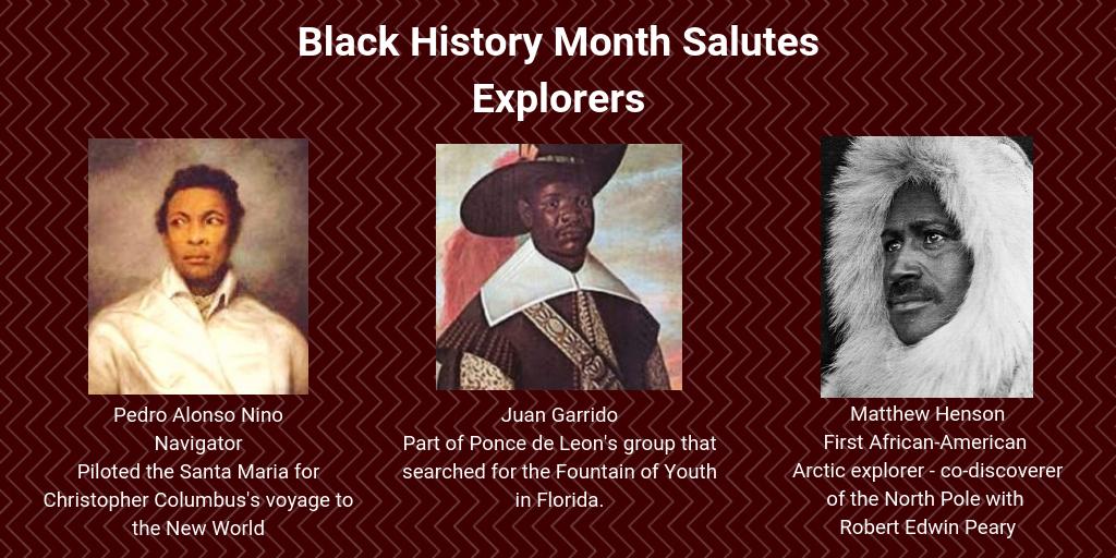 Explorers Christopher columbus voyages, Black history