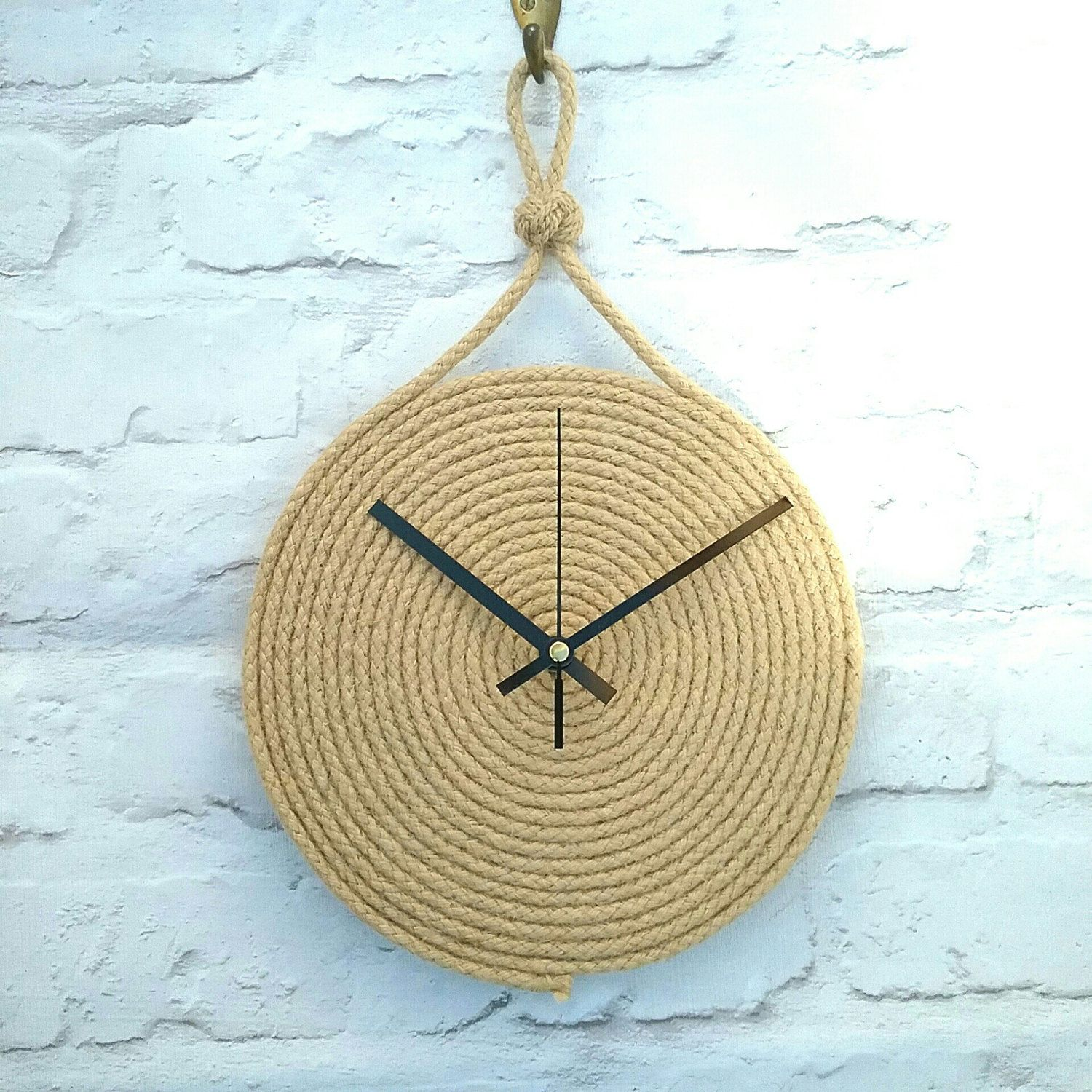 Our Latest Creation A Nautical Rope Clock It Is Finished Off With A Turks Head Knot To Make It Even More Seaman Like Diy Clock Wall Rope Decor Diy Clock