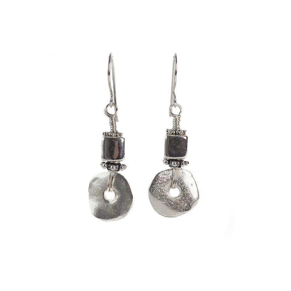 Stacked Disc Earrings | Earrings | Pinterest | Sterling silver