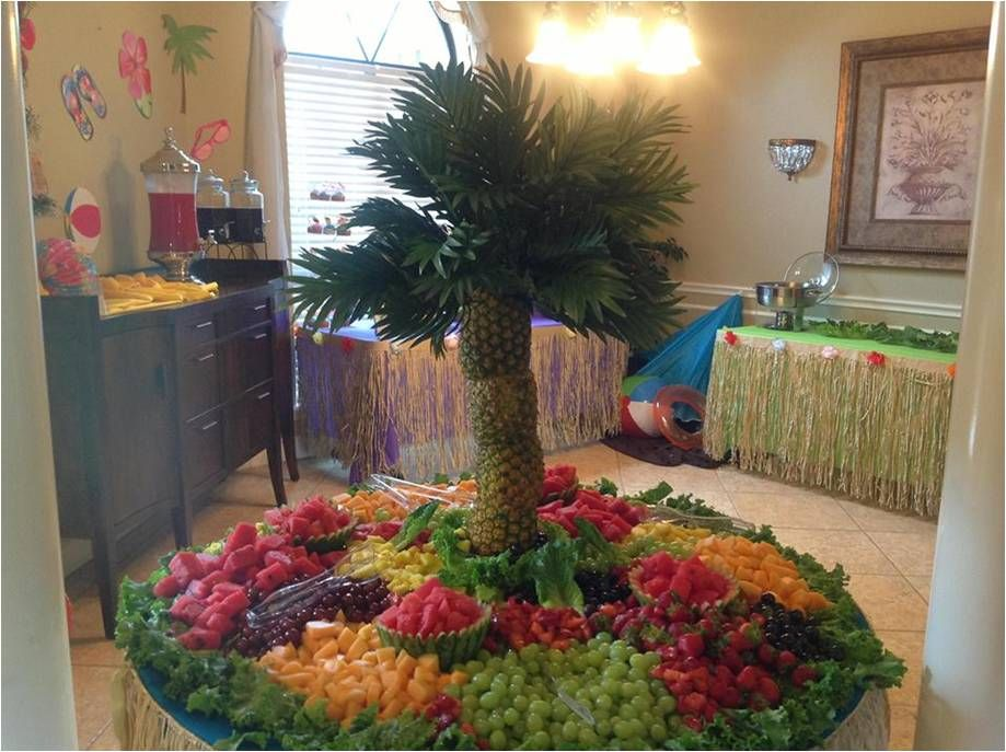 Tropical Fruit Platter For A Beach Wedding: Luau Fruit Display For A Birthday Party!