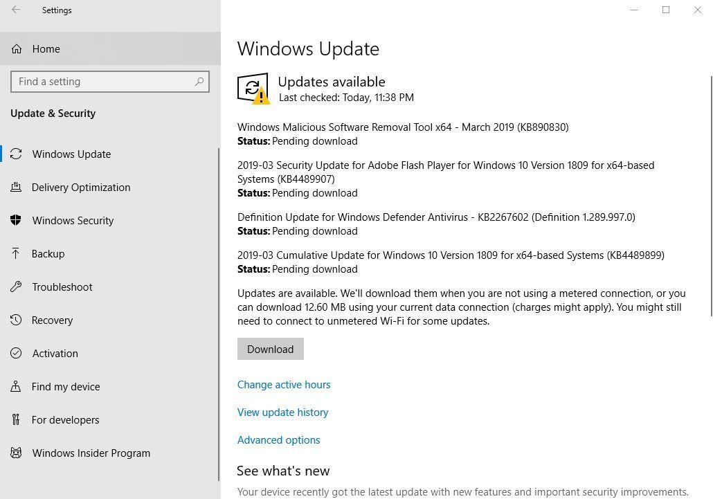Download Windows 10 1809 Cumulative Update Kb4538461 Os Build