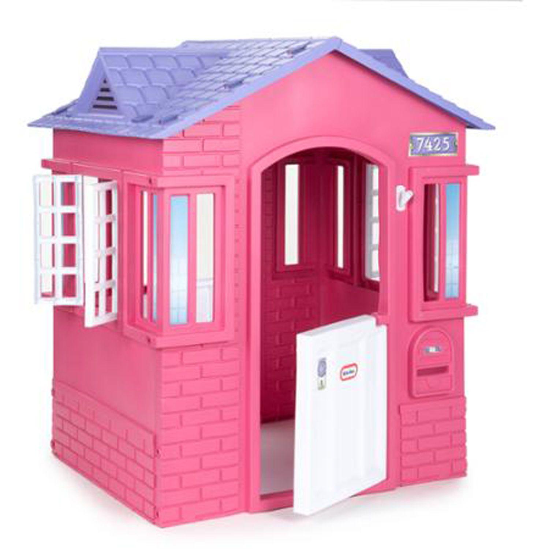 Girls Pink Playhouse Cottage Children Indoor Outdoor Play ...