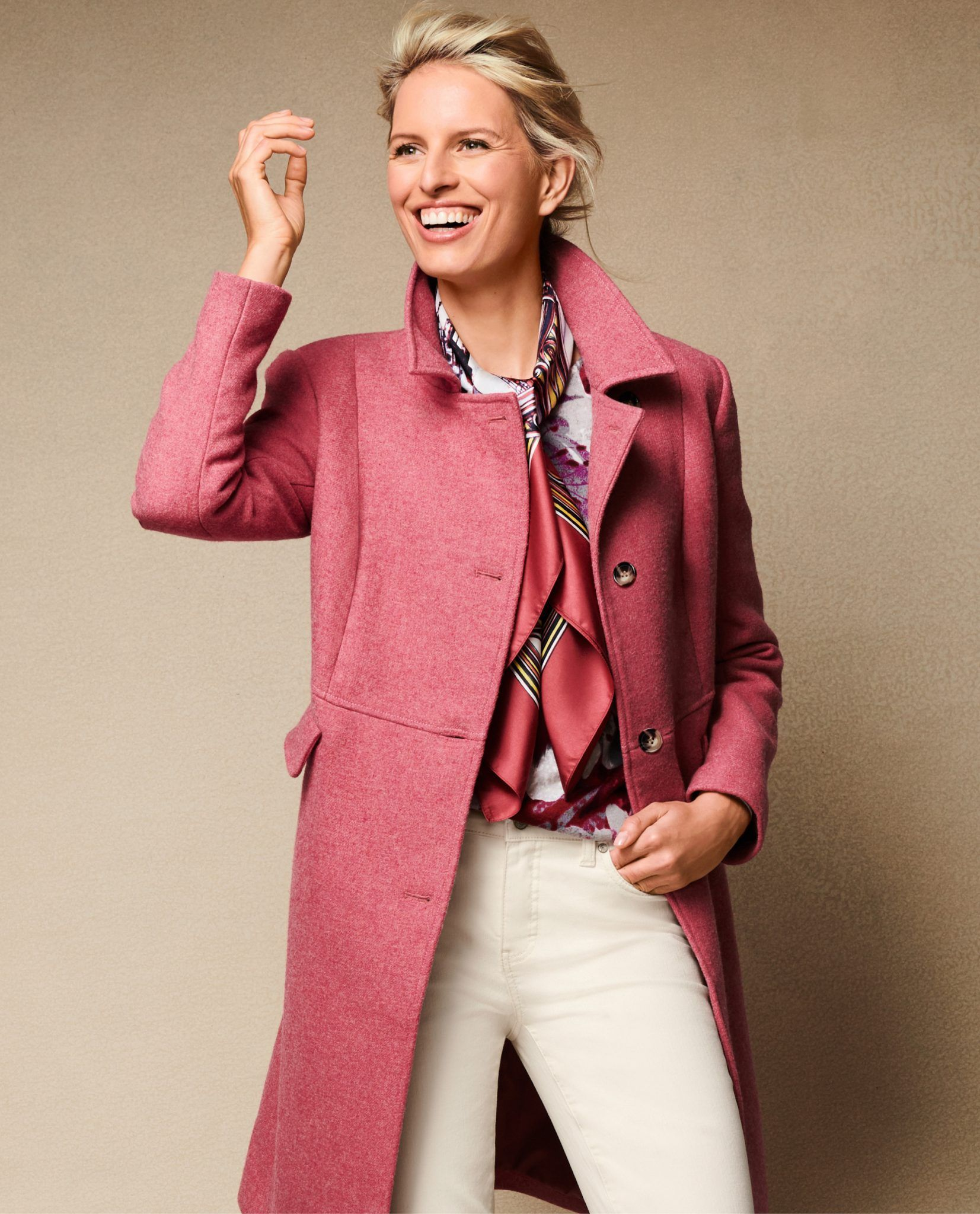 Coat In Pink Heather Fall 2018 Preview Talbots Lookbooks Talbots Fashion Classic Fashion Looks Outerwear Fashion [ 2048 x 1653 Pixel ]