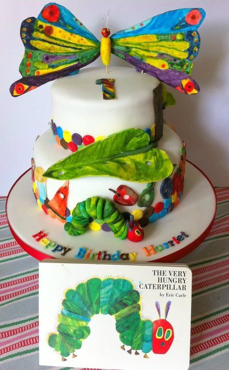 The Very Hungry Caterpillar cake... I love this!!!